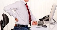 πόνος στη μέση στο γραφείο